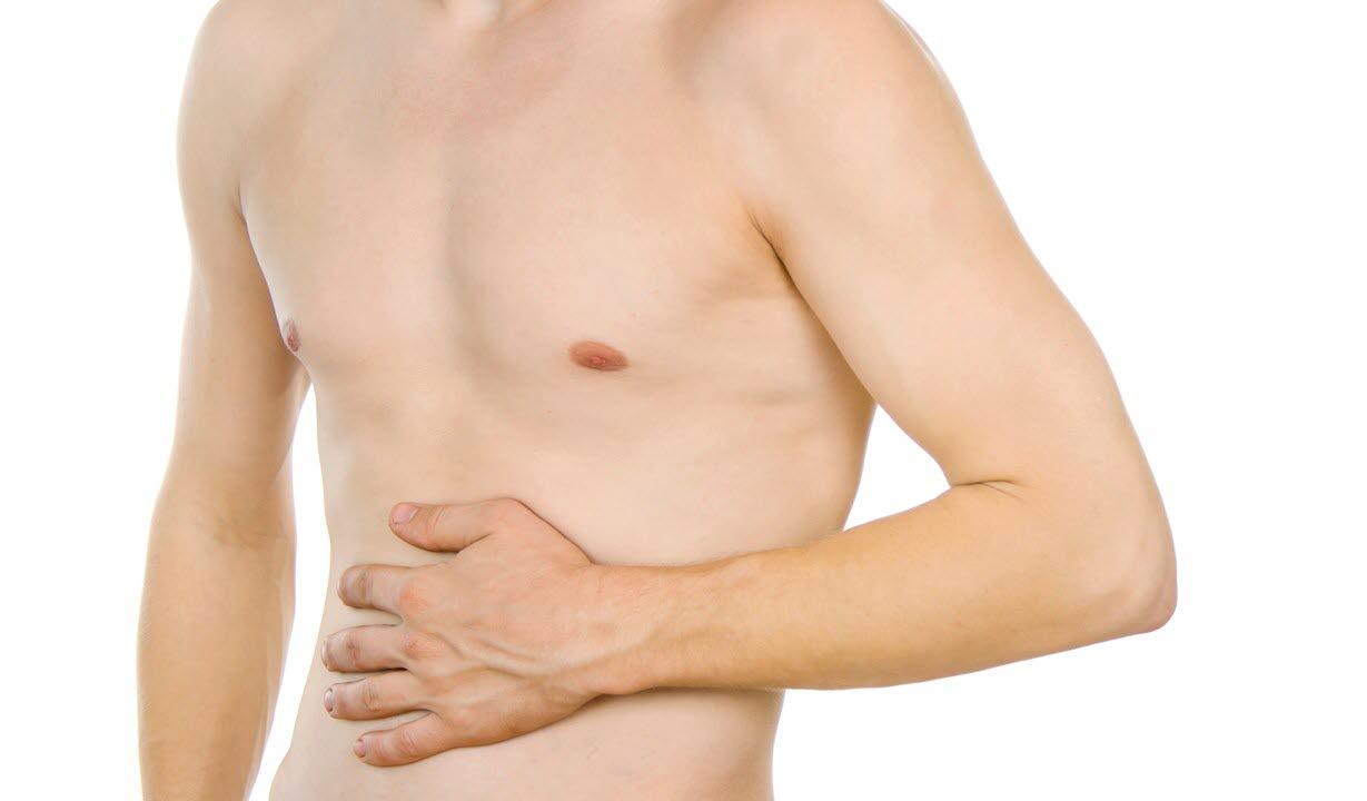nakne rujenter sterke smerter i magen